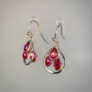Jewelry - 925 Sterling Silver TriStone Earrings